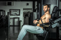 Man working out Royalty Free Stock Photo