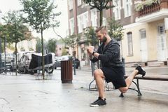 A man working out on a street Stock Images