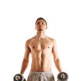 Man working out with dumbbells Stock Photography