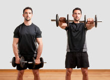 Man Working Out With Dumbbels Stock Image