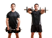 Man Working Out With Dumbbels Royalty Free Stock Photography