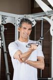 Man Working Out In Fitness Center Royalty Free Stock Photo