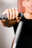 Man working out in gym Stock Image