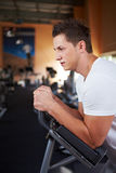 Man working out in gym Royalty Free Stock Image