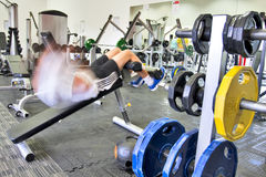 Man working out in gym Stock Photography