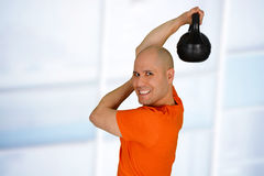 Man Working Out Stock Photography