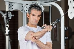Man Working Out In Gym Royalty Free Stock Images