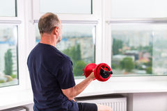 Man working out Stock Images