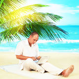 Man working outdoor stock images