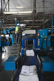 Man Working In Printing Press Factory Stock Image