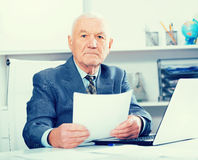 Man working productively Stock Images