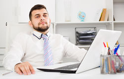 Man working productively Stock Photography