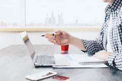 Man working on project Royalty Free Stock Images