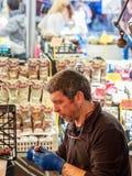 Man working on Roman Market Royalty Free Stock Images