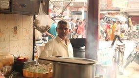 Man working at rural kitchen stock footage