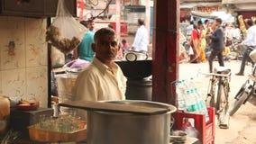 Man working at Rural Kitchen stock video