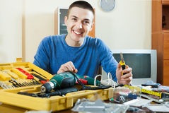 Man  with working tools Stock Photography