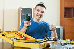 Man  with working tools Stock Photos