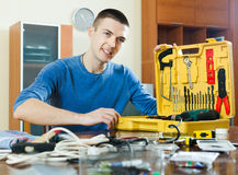 Man with working tools Royalty Free Stock Photos