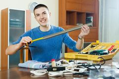 Man with working tools Royalty Free Stock Photo