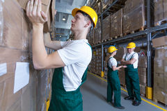 Man working in warehouse Royalty Free Stock Image