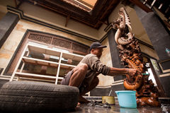 Man working in the workshop Stock Photos