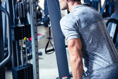 Man workout in fitness gym Royalty Free Stock Photography