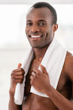 Man after workout. Royalty Free Stock Images