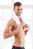 Man after workout. Stock Images