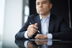 Man at workplace Stock Photo