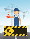 Man works industry. Illustration of man works industry Royalty Free Stock Photos