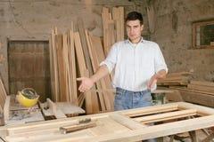 Man in workshop Stock Image