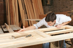 Man in workshop Stock Images