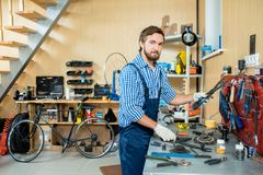 Man in workshop Royalty Free Stock Photography
