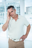 Man worried deeply about something Royalty Free Stock Images