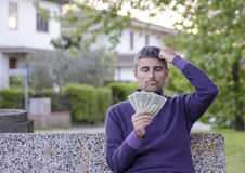 Man worried about Money Royalty Free Stock Photo