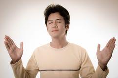 Man worship. Asian man worship to the Lord Stock Photography