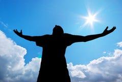 Man worship Stock Image