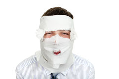 Man Wrapped In Paper Royalty Free Stock Photo