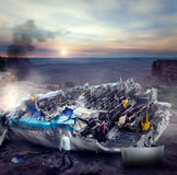 Man after wreckage Royalty Free Stock Photo