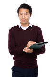 Man write on clipboard Royalty Free Stock Image