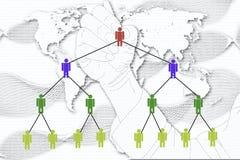 The man write Network Marketing on World Map background. Royalty Free Stock Image