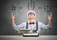 Man writer Stock Image