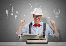 Man writer Stock Photo