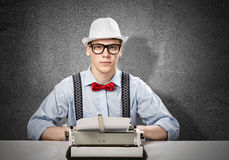 Man writer Royalty Free Stock Images