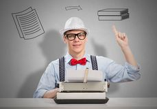 Man writer Royalty Free Stock Photography