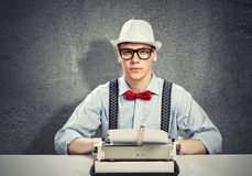 Man writer Stock Photography