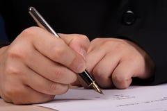 Man writing Royalty Free Stock Images