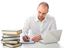 Man writing Royalty Free Stock Images