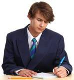 Man writing Stock Photo